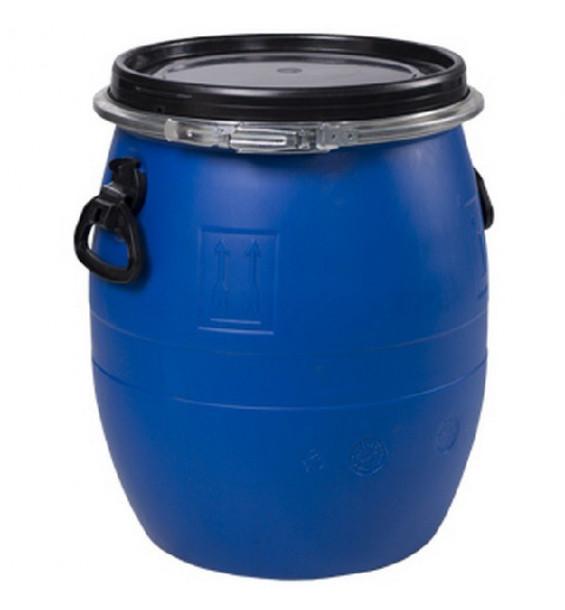 Бочка пластиковая 48 литров с крышкой на обруч