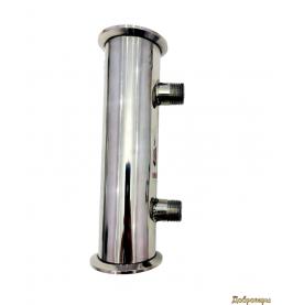 Дефлегматор трубчатый под кламп 1.5 дюйма, 5 трубок х 10мм, резьба 1/2, 24см