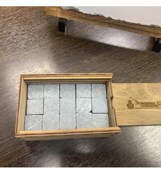 """Камни для ВИСКИ ручной работы в коробе """"Домашние самогоны"""""""