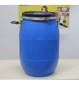 Бочка пластиковая 65 литров с крышкой на обруч