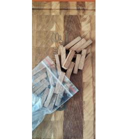 Брусочки дубовые, средний обжиг, 100 гр