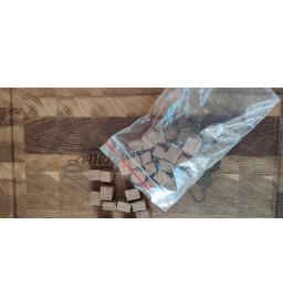 Щепа дубовая, кубики, средний обжиг, 100 гр