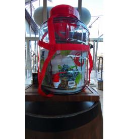 """Банка стеклянная 12 литров """"Оптимум"""" с пластиковой крышкой, врезкой и краном"""