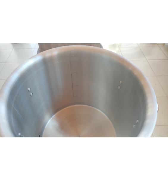 """Перегонный куб """"АЛКАШ"""" 21л, с отводом 1/2 (мама), нержавеющая сталь 201, тройное дно 3.8мм d=300 h=300"""