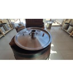 """Крышка для котла 37л с врезкой 2"""" толщина 1.2мм диаметр 38см"""