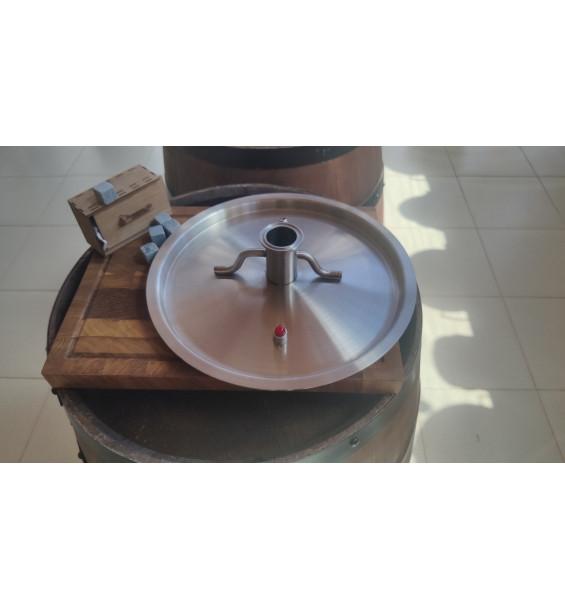 """Крышка для котла 21л с врезкой 1.5"""" толщина 1.2мм диаметр 32.5см"""